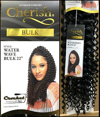 Cherish Water Wave Bulk 22'' Synthetic Hair Braids