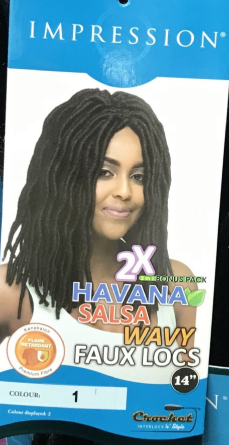 "IMPRESSION SYN 2 X HAVANA 14""  SOFT FAUX LOCS CROCHET HAIR"